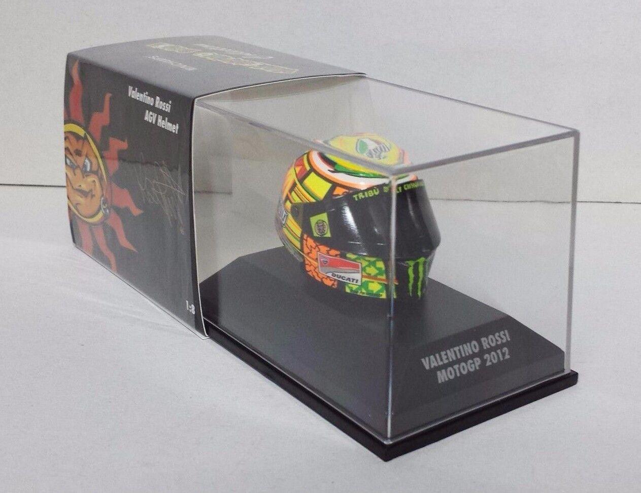 MINICHAMPS VALENTINO ROSSI MODELL AGV HELM HELMET 1 8 MOTO GP 2012 DUCATI