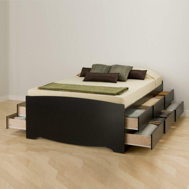 Bed Storage Platform Bedroom Set Queen, Platform Beds With Storage Queen Size