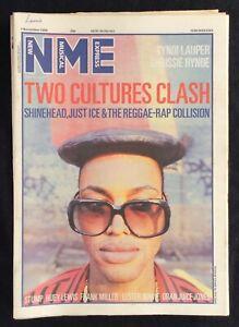 NME 1 November 1986 Cyndi Lauder Chrissie Henderson Shinehead Huey Lewis