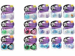 Tommee-Tippee-Night-Time-soothers-age-0-6m-6-18m-18-36m-girls-boys-bpa-free