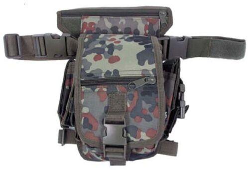 BW Flecktarn Hip Bag mit Bein- und Gürtelbefestigung German Army HipBag