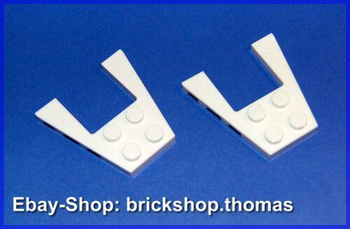 white Wedge Plate 43719 weiß Platte Lego 2 x Flügel 4 x 4 NEU // NEW