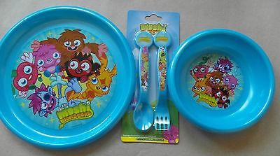 Bambini Set Da Pranzo-ciotola, Piatto, Posate-angry Birds, Hello Kitty, Moshi-mostra Il Titolo Originale Superiore (In) Qualità