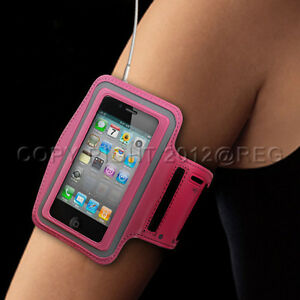 PREMIUM-PINK-SPORTS-WORKOUT-GYM-ARMBAND-CASE-COVER-FOR-Apple-iPhone-4-4S-3G-3GS