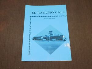 VINTAGE OLD DINING EL RANCHO CAFE MOUNTAIN HOME IDAHO  RESTAURANT  MENU
