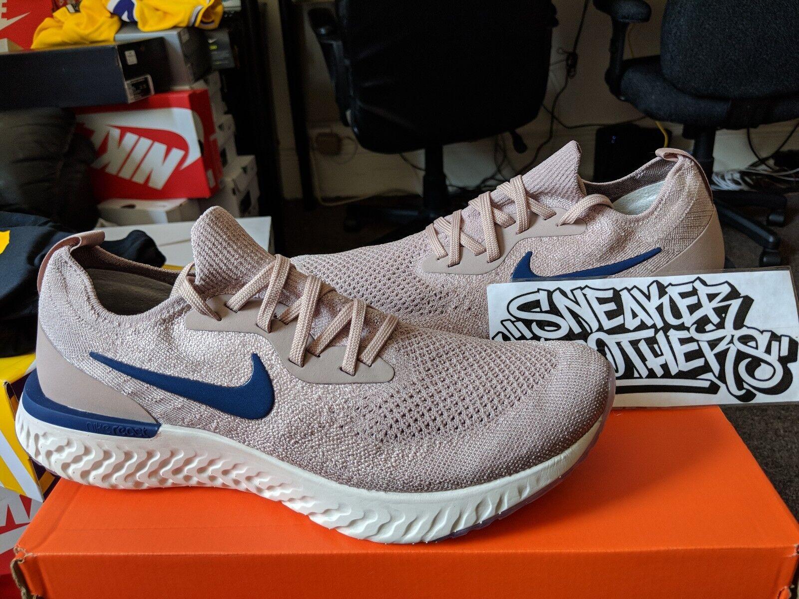 Nike epico reagire flyknit 2018 diffuso grigio blu vuoto in uomini aq0067-201