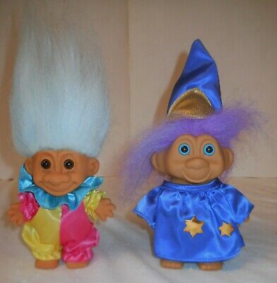 Lot of Trolls~4~ With Clothing and Accessories~1991 TNT