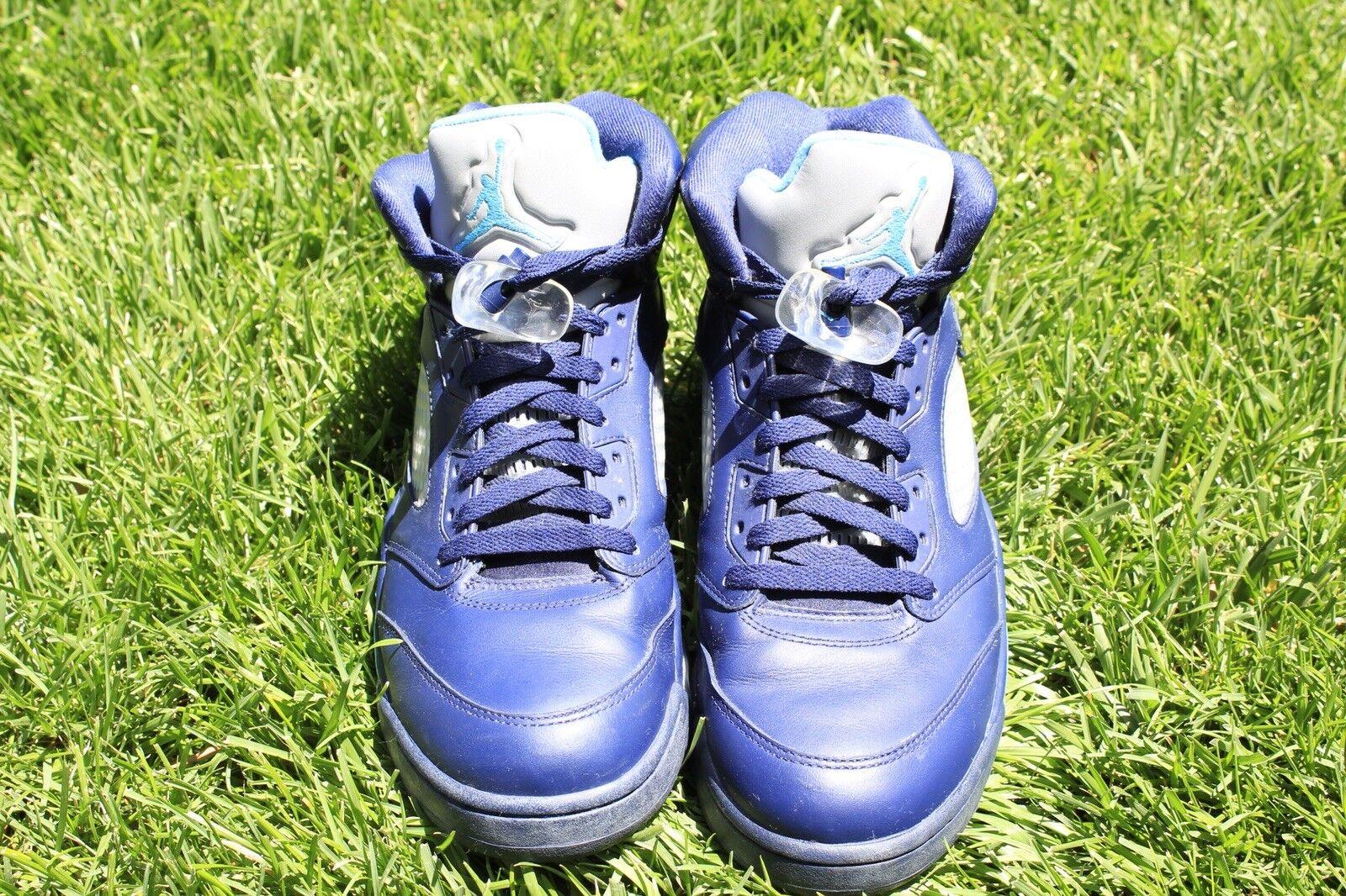 Air Jordan 5 Retro BG 'Pre-Grape' Midnight Navy Casual wild
