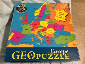 Europe Geo Puzzle 58 Pieces Shaped Countries Map Complete 850818001016 Ebay