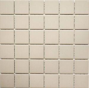 Keramikmosaik hellbeige Stäbchen rutschhemmend Wand Boden  WB24B-1211-R10|1Matte