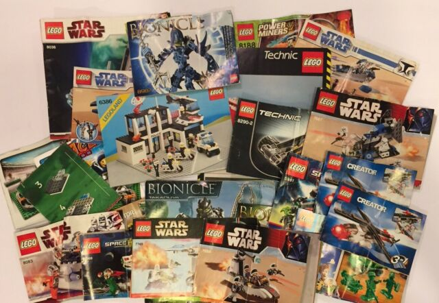 Lot Of 23 Vtg Lego Instruction Manuals Star Wars Technic Legoland