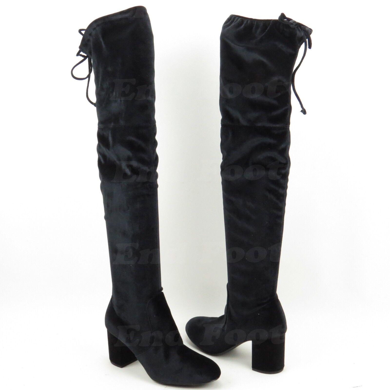 NEW Charles David Owen Black Velvet Over-the-Knee Boots Boots Boots Women's Size 9.5 M 1e74d5