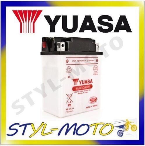YB12AL-A2 BATTERIA ORIGINALE YUASA AD ACIDO YAMAHA XV 535 VIRAGO 1994