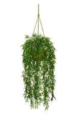 Artificial Bamboo Hanging Basket Arrangement Plastic Plants Decor Bush Patio 724