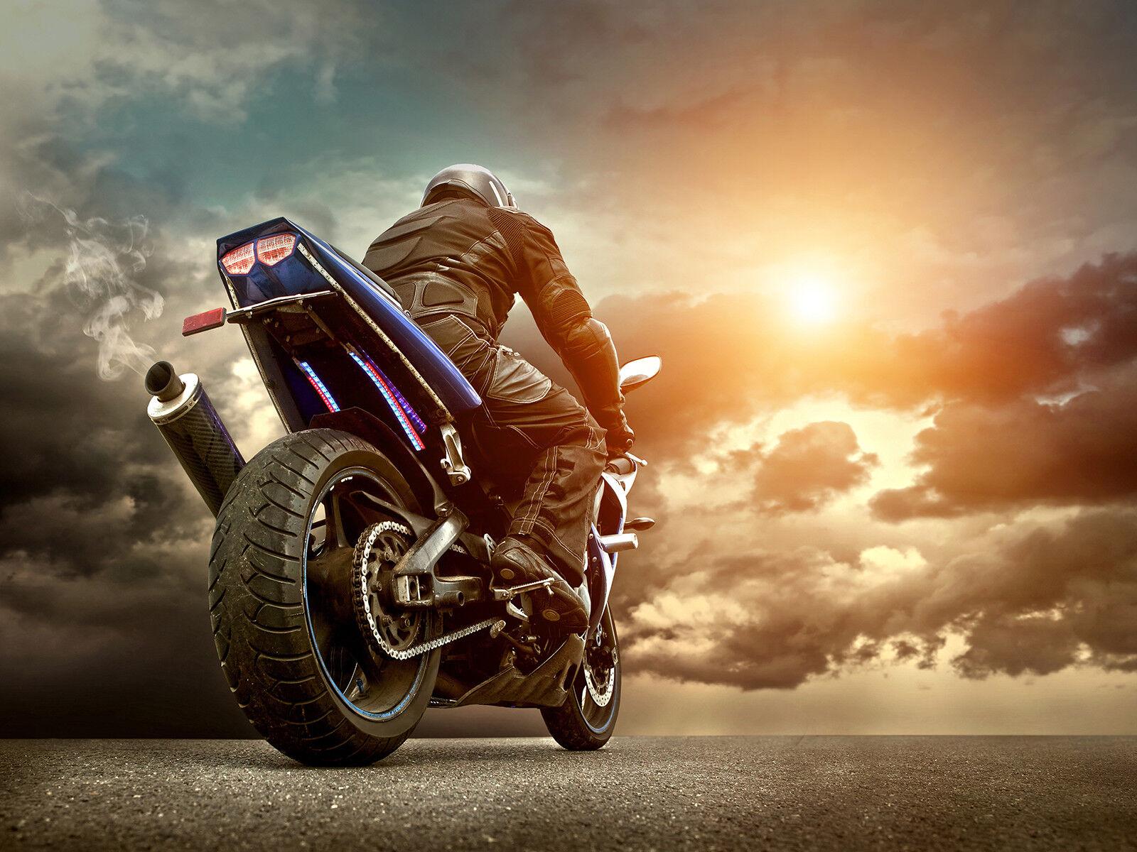 Verre Trempé Impression Impression Impression Photo Wall Art Photo motocycliste Racing Prizma GWA0335   Emballage élégant Et Robuste    2019    En Ligne  fe493c