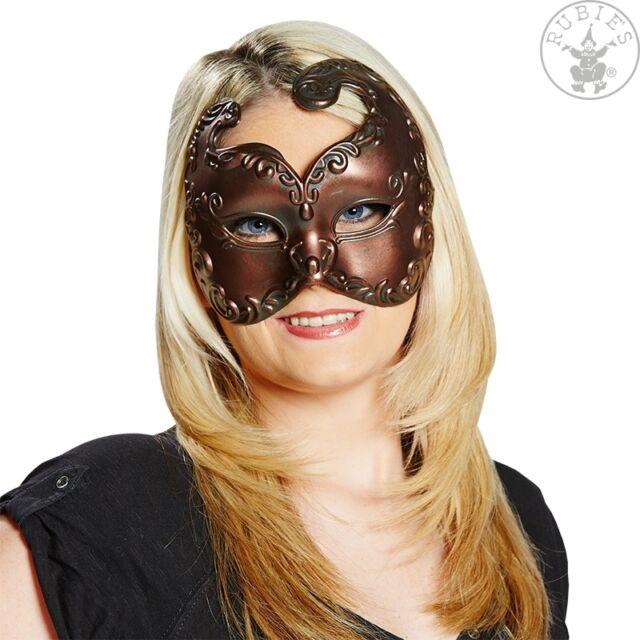 Rubies 6245980 Maske / Domino Venezianer kupferfarben für Karneval / Fasching