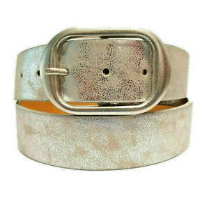 Details about Real Designer Belt Silver Women's Belt Glitter Vintage 4 CM Wide New