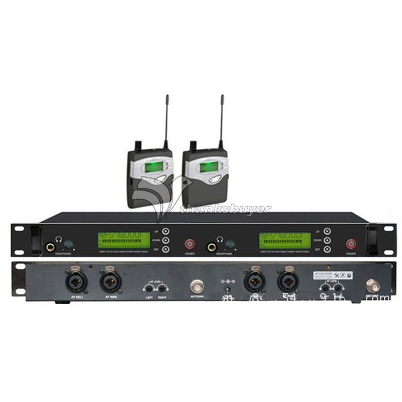 Stage Professional UHF 572-830Mhz Wireless In-Ear Headphones Monitor System