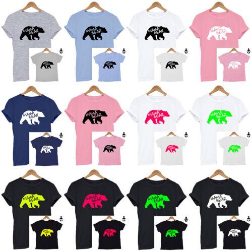 Matching Set T Shirt Mum// Baby //Dad// Baby Shower unisex Mama Bear Baby Bear