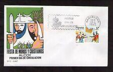 FDC ESPANA BARCELONA FIESTA DE MOROS Y CRISTIANOS ALCOY 22-4-1985