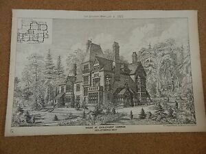 Antique-Architects-Print-House-At-Chislehurst-Common-Building-news-1878