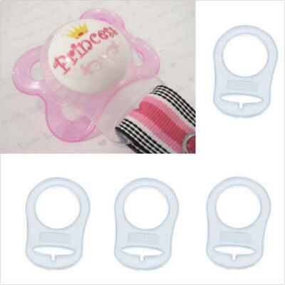 30x SILICONE BABY MAM DUMMY CLIPS ADAPTER IN CLEAR Many Colors