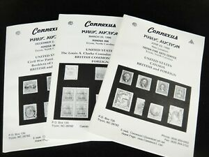 Connexus Stamp Auction Catalogs Lot Of 3 1998 And 1999 Us Canada British Ebay