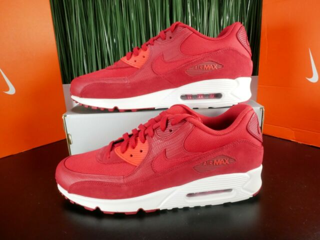Nike Air Max 90 Premium Gym Red Mens Running Shoes 700155 602 Size 13