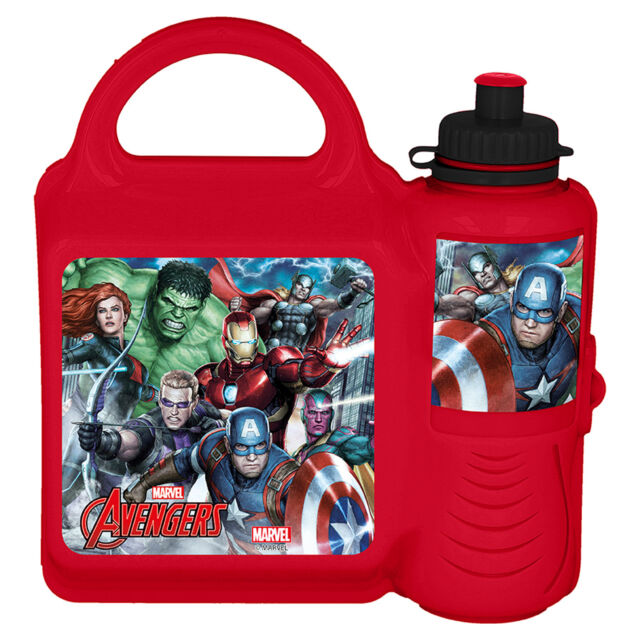 Disney / Character Lunch Box and Sports Bottle Combo - Marvel Avengers