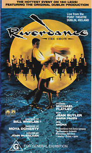 RIVERDANCE-Michael-Flatley-Bill-Whelan-VIDEO-VHS-Pal-SirH70