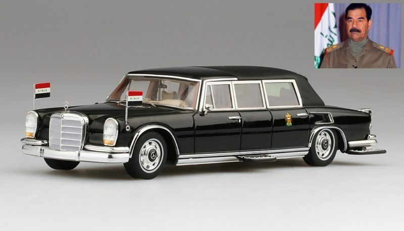 Mercedes 600 pullman landaulet 1978 von saddam hussein im irak 1 43