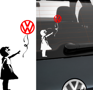 Banksy-Red-Balloon-Girl-Volkswagon-VW-Car-Van-Sticker-Stickers-Decal-Sticker