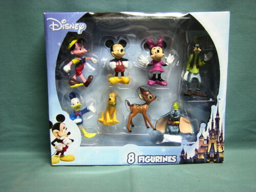 MINNIE MICKEY MOUSE /& FRIENDS 8 MINI FIGURES MICKEY BAMBI /& MOR DONALD PLUTO