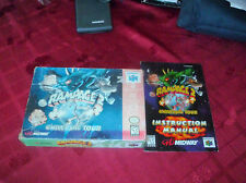 Rampage 2: Universal Tour (Nintendo 64, 1999) box and manual only