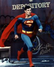SUPERMAN CHRISTOPHER REEVE 8x10 Color Signed Reprint Photo Movie Memorabilia