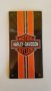 """HARLEY RACING MOTORCYCLE SIGN PORCELAIN ENAMEL CLASSIC EMAILLE 4/""""x8/"""" =20x10cm"""
