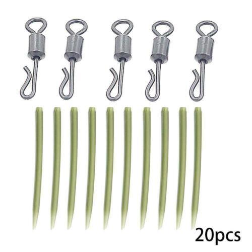 20X Fishing Tackle Karpfen-Karabinerhaken Quick Change Wirbel Anti Hot