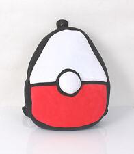 New Pokemon Poke Ball Soft Plush Backpack Bag Schoolbag Kids Christmas Gift
