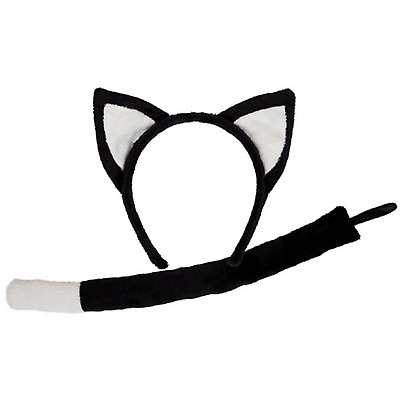 Dog Kids Unisex Costume wicked Animal Ears /& Tail Set