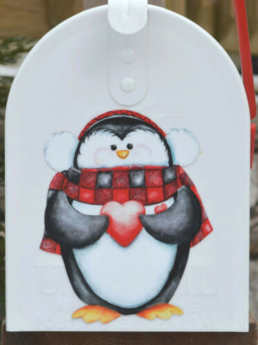 Mailbox Magnet Partial Cover Penguin Large /& Small Mailbox Door Winter Car