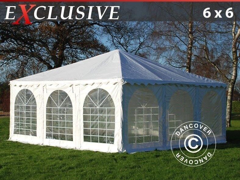 Pagodetelt Exclusive 6x6m PVC, Hvid