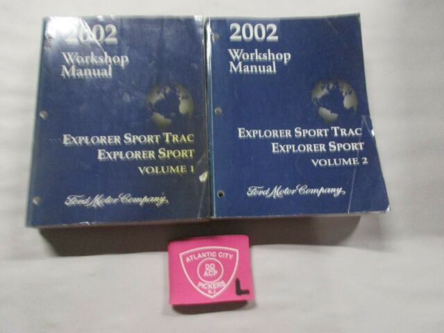 2002 Ford Explorer Sport Trac Service Shop Repair Manuals