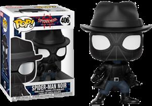 Into The Spider-Verse Spider-Man Spider-Man Noir with Hat Pop Vinyl Figure