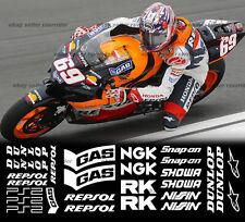 decal sponsor racing kit for all honda sportbikes