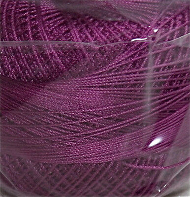 Lizbeth Cordonnet 100% Egyptian Cotton Thread Size 20 Color 635 Dark Violet Pink
