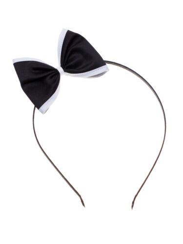Setrino® Haarreif Schleife schwarz weiss Rockabilly Pin up Haarschmuck Retro