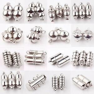 10Pcs-Silver-Plated-Magnetic-Clasps-Hooks-Bracelet-Necklace-Jewelry-Finding-DIY