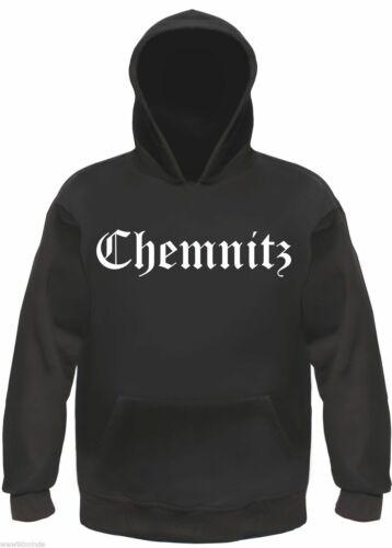 Chemnitz Sweatshirt oder Hoodie karl-marx-stadt Altdeutsch Schwarz//Weiss