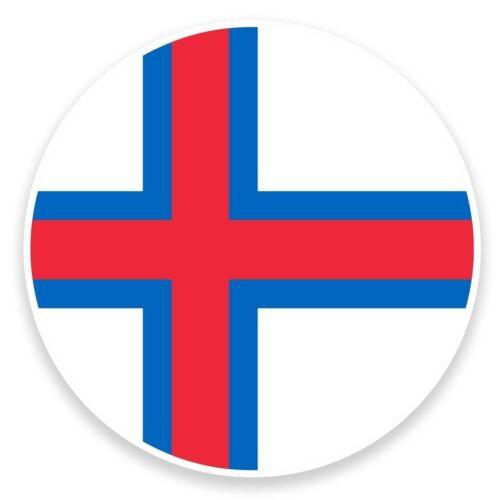 2 x Faroe Island Flag Map Vinyl Sticker Travel Car Luggage #9049