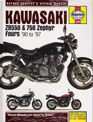 1990-1997 ZR550 ZR750 550 750 Zephyr Haynes Service Repair Shop Manual Book 3823